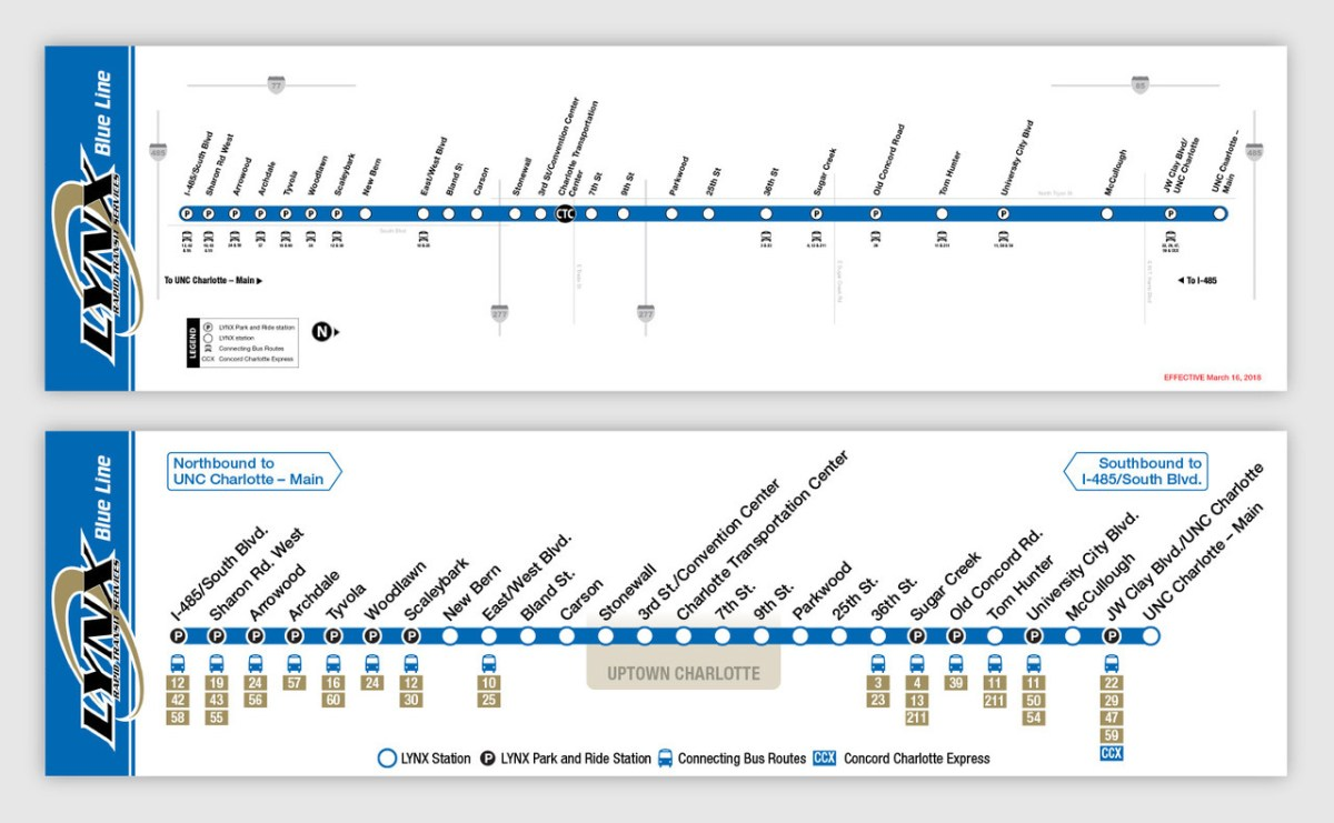 Transit Maps Quick Redesign Charlotte Lynx Blue Line