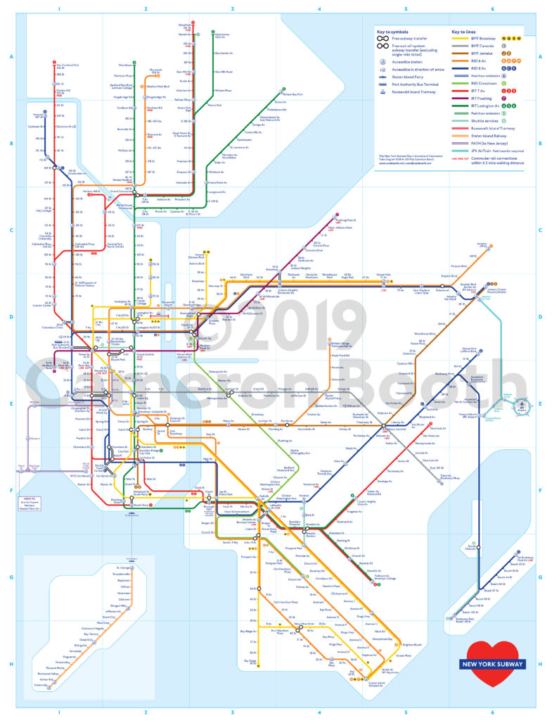 Nyc Subway Map Print.Transit Maps New Project New York Subway Map In The Style Of The