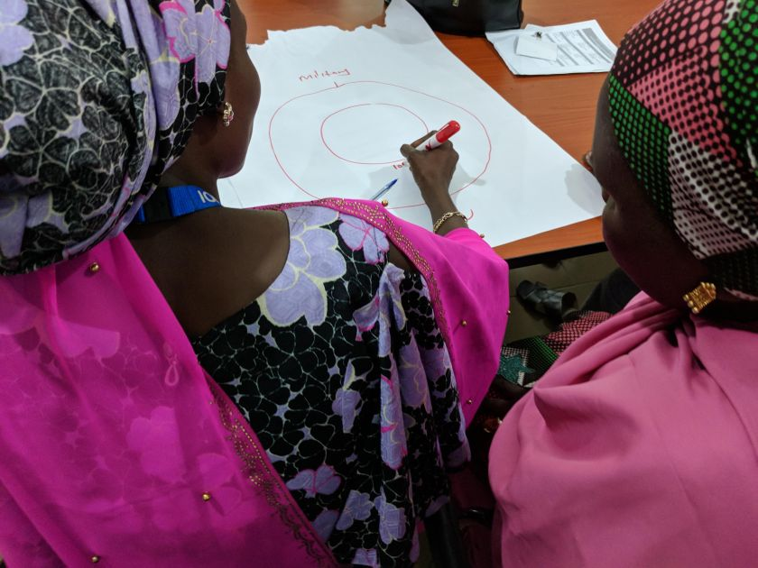 Participants in a Translators without Borders interpreter training session. Borno State, Nigeria, August 2018.