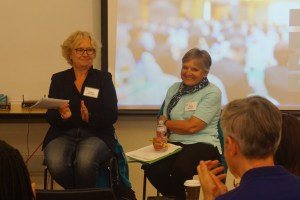 Panelists Andrea Hofmann-Miller and Holly Mikkelson.