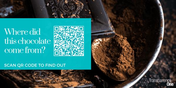 Chocolate QR code