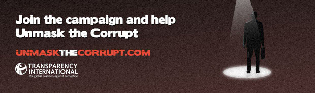 Unmask the Corrupt campaign banner