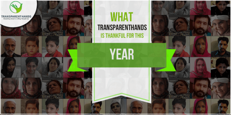 What Transparent Hands is Thankful for This Year!