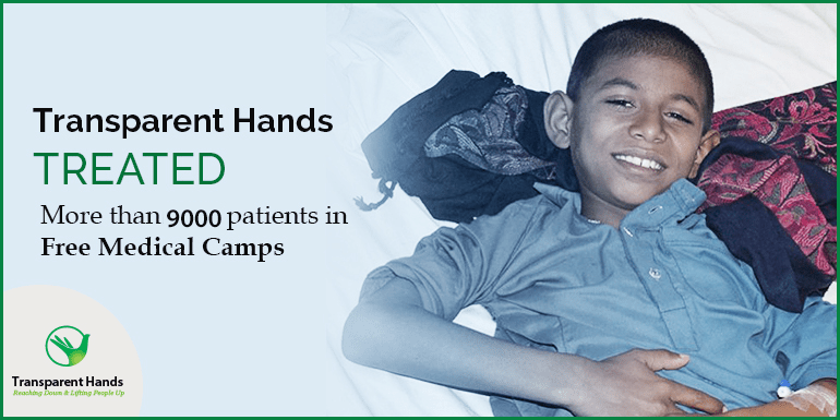 TransparentHands treated more than 3500 patients in Free Medical Camps