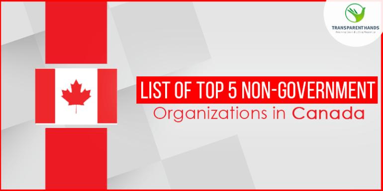 List of Top 5 Non Government Organizations in Canada