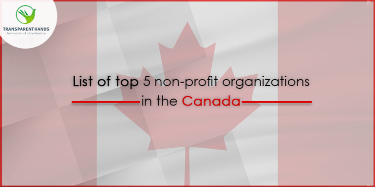 List of Top 5 NonProfit Organizations in Canada