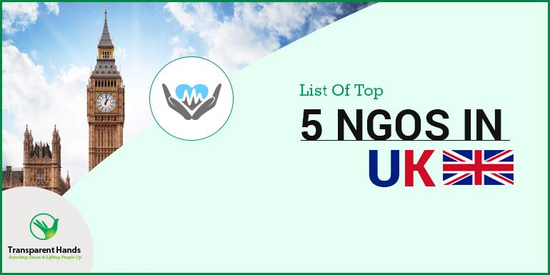 List of Top 5 NGOs in UK