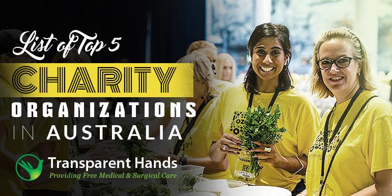 List of top 5 Charity Organizations in Australia