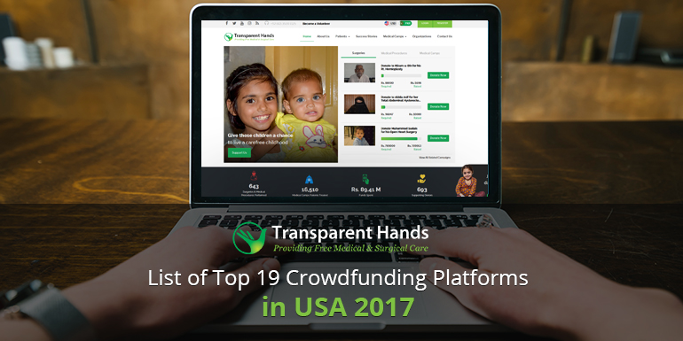 List of Top 19 Crowdfunding Platforms in USA 2017
