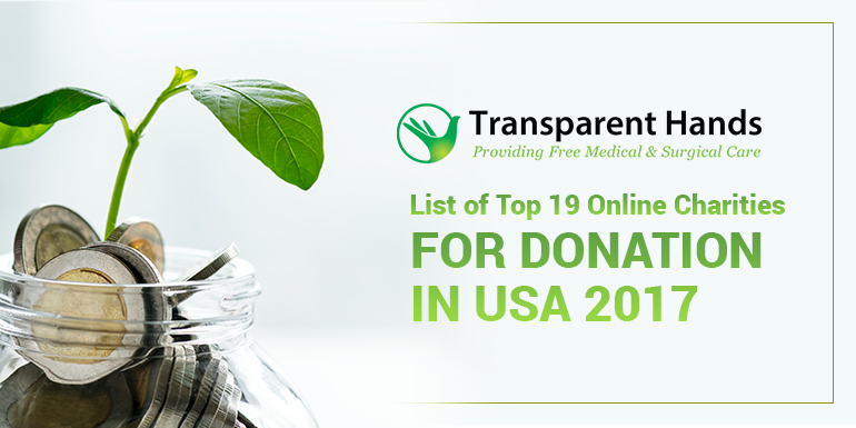 List of Top 19 Online Charities for Donation in USA 2017
