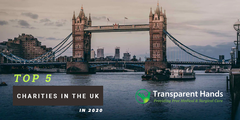 Top 5 Charities in the UK in 2020