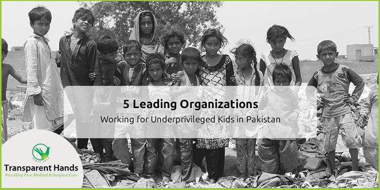 Organizations Working for Underprivileged Kids in Pakistan