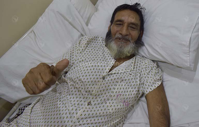 Mushtaq's osteoarthritic knee