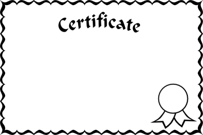 Download CERTIFICATE TEMPLATE Free PNG transparent image