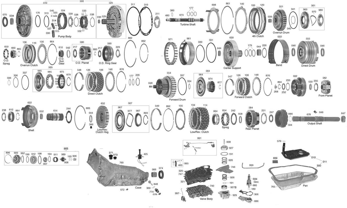hight resolution of trans parts online 200 2004r transmission parts th350 exploded diagram 2004r parts diagram