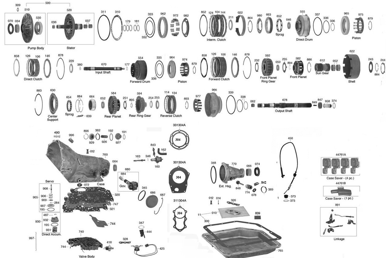 350 automatic transmission parts diagram nl pajero wiring chevy turbo autos post