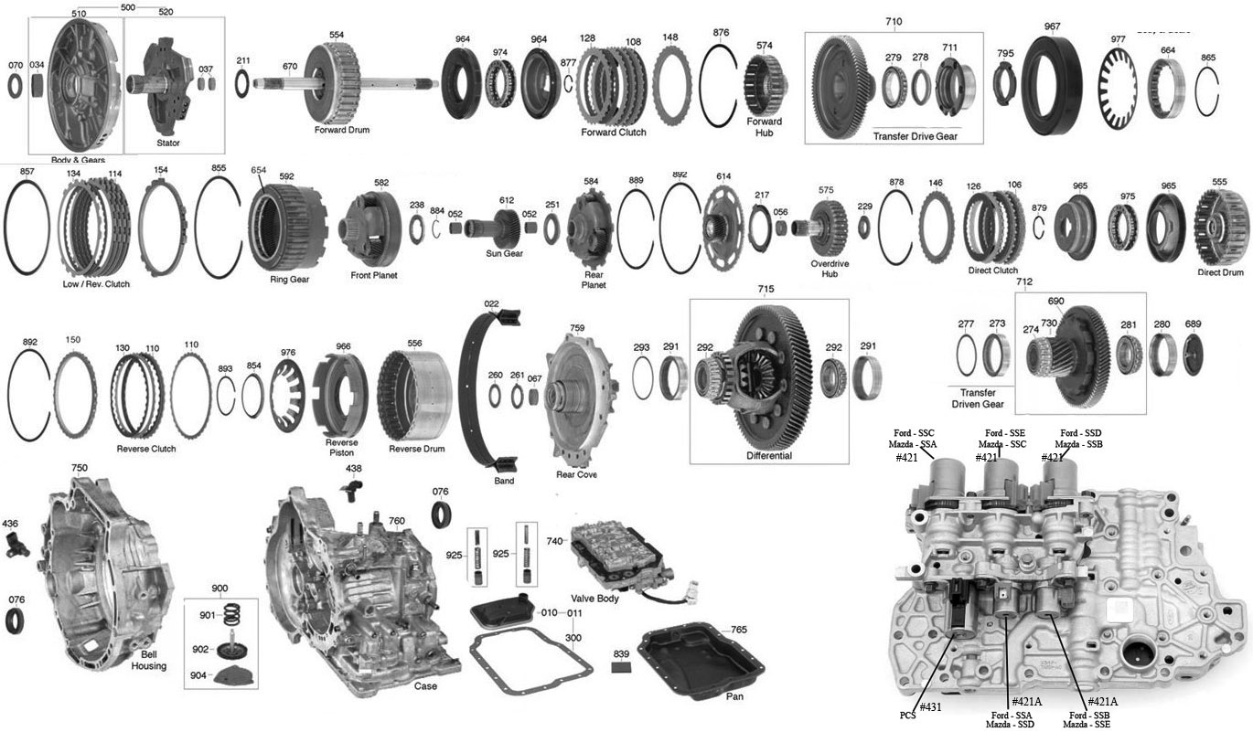 hight resolution of trans parts online 4f27e 4f27e transmission parts ford transmission diagram automatic transmission 4f27e