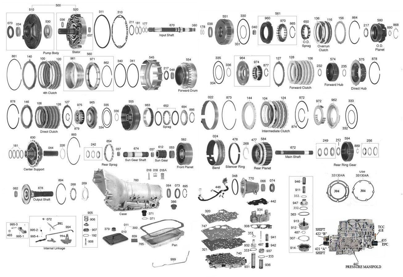 4l80e exploded diagram