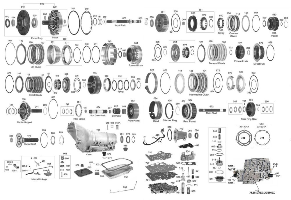 medium resolution of 4l60e pump parts diagram wiring diagram forward gm 4l60e parts diagram