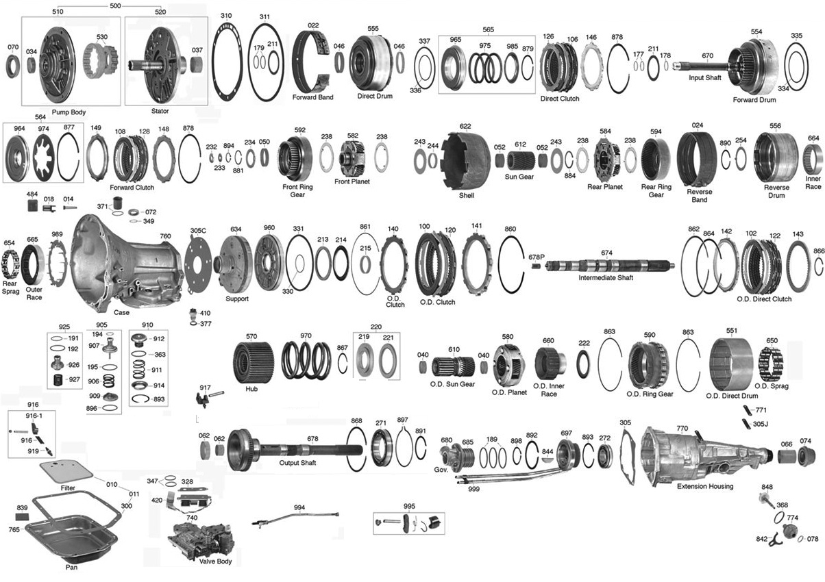 hight resolution of 42re transmission diagram wiring diagram usedtrans parts online 500 500 transmission parts 42re transmission valve body