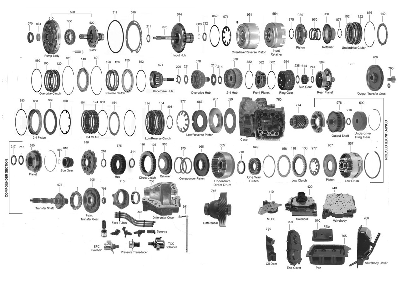 2007 Dodge Grand Caravan Transmission Diagram