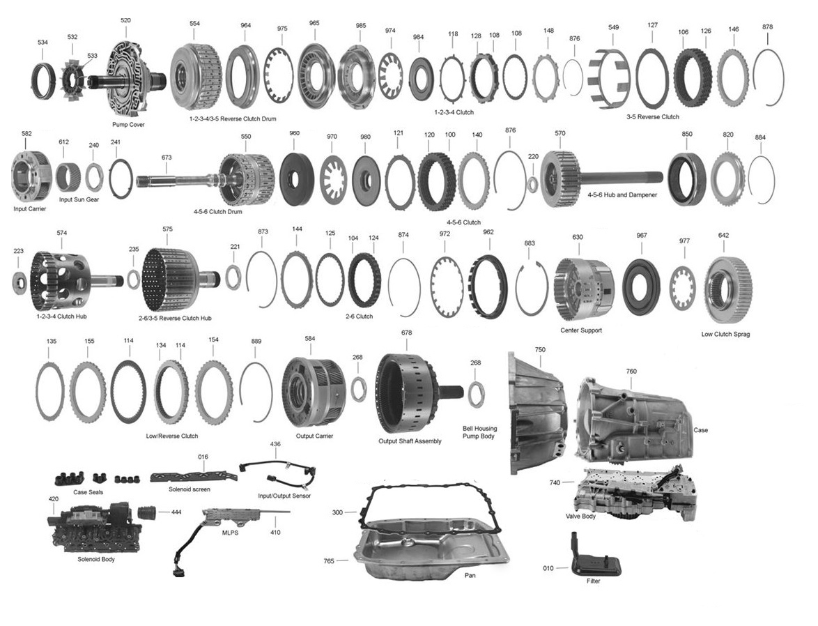 6l80 Transmission Parts Diagram Trans Parts Online