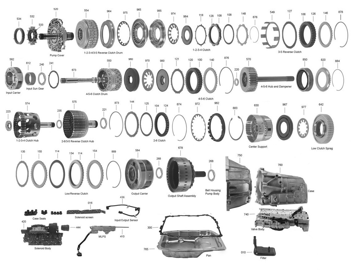 4l60e Transmission Exploded View Diagram. Parts. Wiring