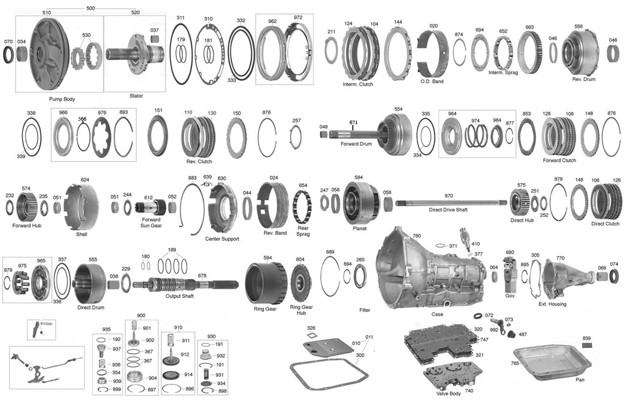 Ford C6 Transmission Parts Diagram. Ford. Auto Parts