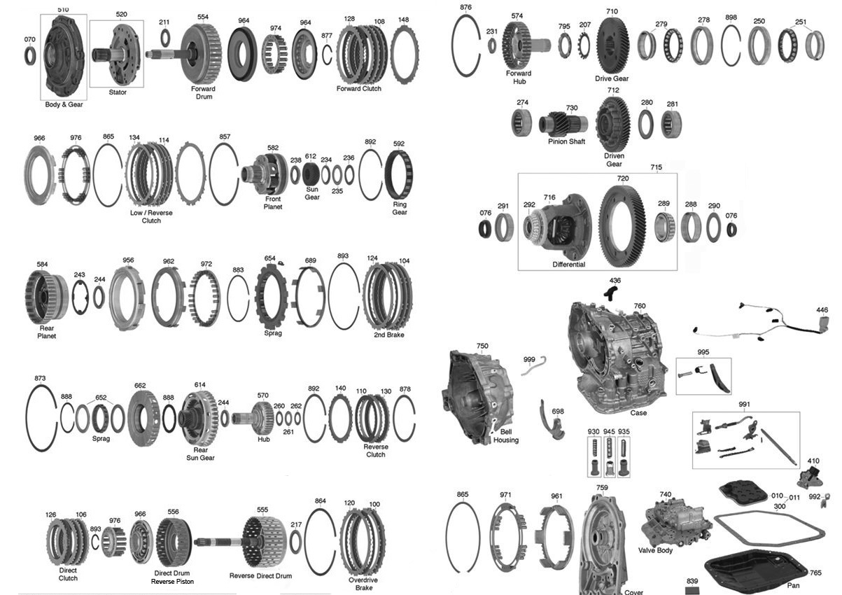 U340 Transmission Parts Diagram Trans Parts Online