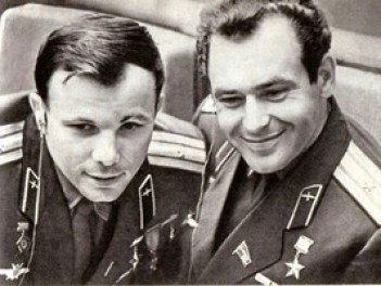 Yuri Gagarin y Guerman Titov