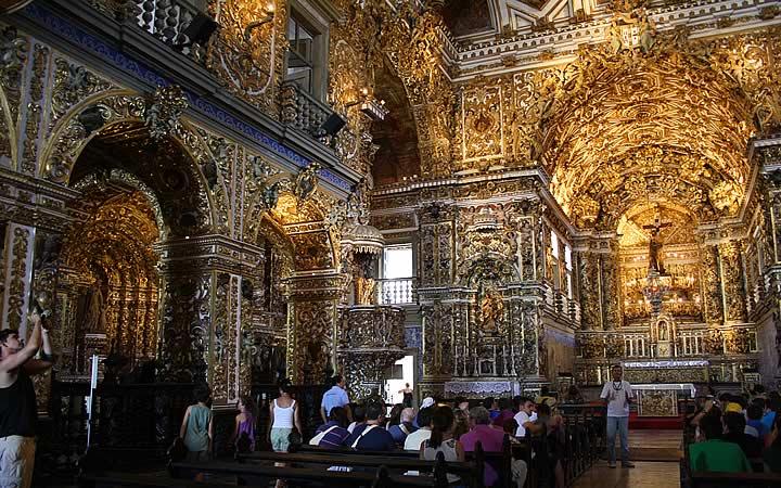 Igreja de São Francisco de Assis - Interior da Igreja - Salvador