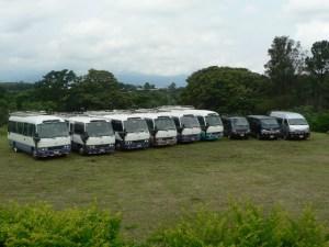 Ejemplo de unidades de transporte privado
