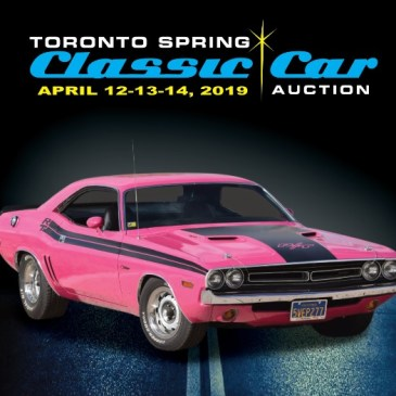 UPCOMING EVENT: 2019 Toronto Spring Classic Car Auction