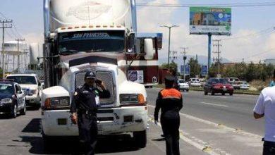 """Photo of Cazan al transporte de carga en Tultitlán por """"contaminantes"""""""