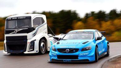 Photo of Mira esta carrera entre un camión Volvo y un S60 Polestar