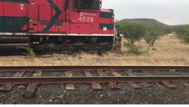 Photo of Tren de carga se descarrila en Cananea