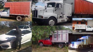 Photo of Aseguran autos 6 camiones robados en Tierra Blanca