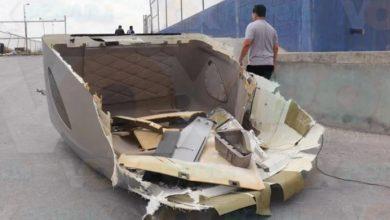 Photo of No calcula el puente y deja el rompevientos
