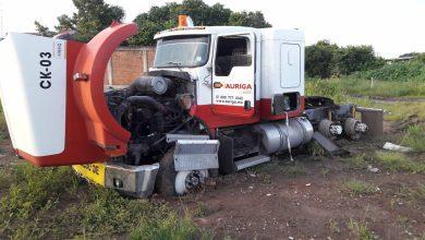 camión desvalijado