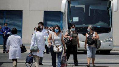 Photo of Mujeres usan el transporte exclusivo para personal médico en Edomex