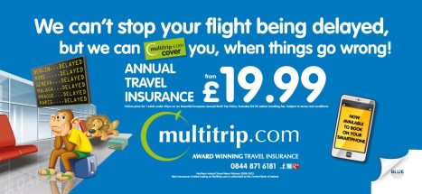TUbe ADvertising - Blue Insurance Travel Insurance Campaign