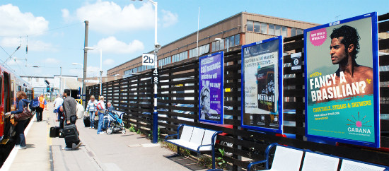 Cabana Newcastle rail advertising