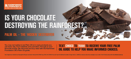 Rainforest Foundation Rail Ad Chocolate