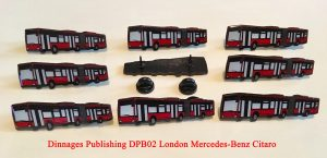 DPB02- nine badges London General Mercedes-Benz Bendy Bus