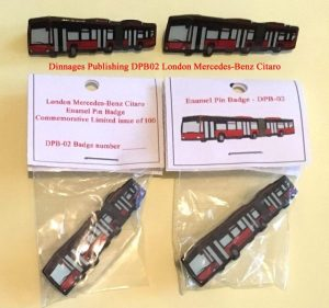 DPB02-Bagged pair London General Mercedes-Benz Bendy Bus
