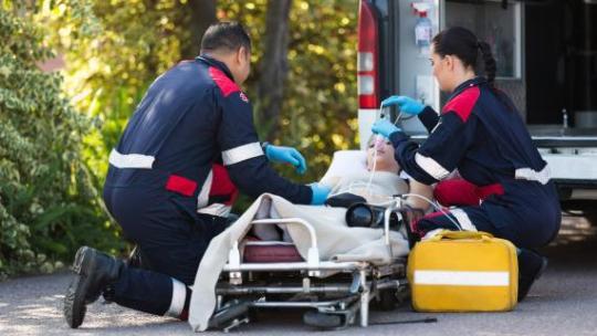 Une ambulance, pour toute intervention sanitaire d'urgence