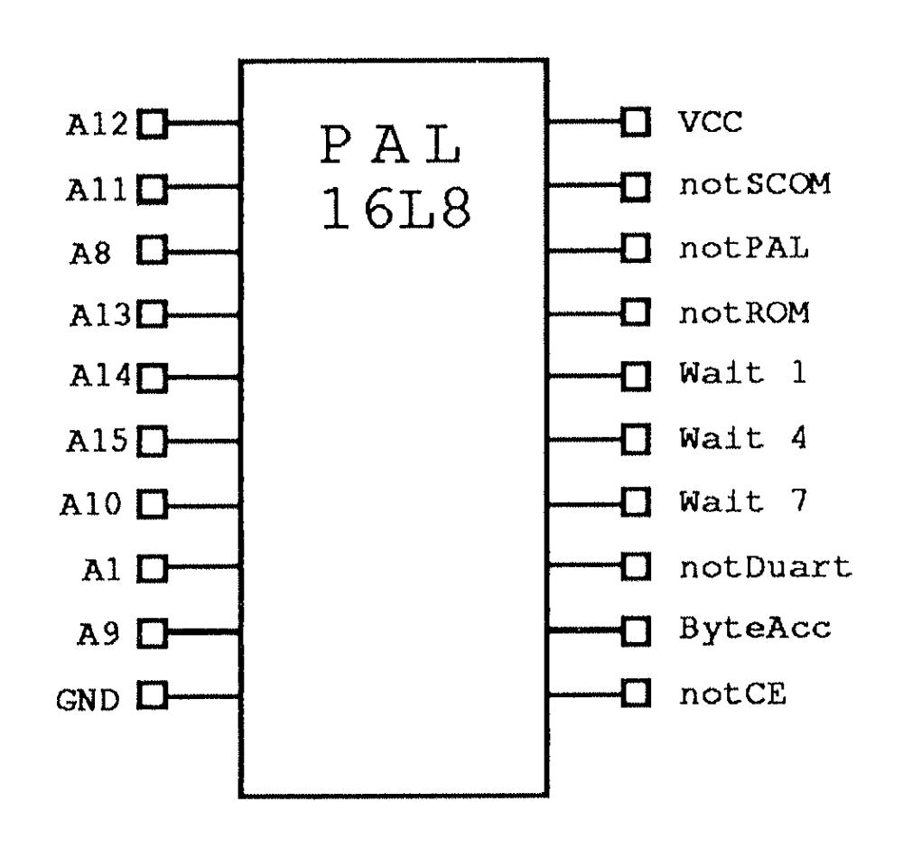 medium resolution of  address decode pal 16l8 circuit