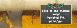 Trappers Beer of the Month - Troegs Perpetual IPA
