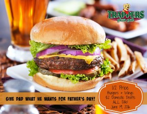 Father's Day promotion at Trappers