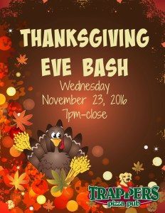 Trappers Thanksgiving Eve Bash
